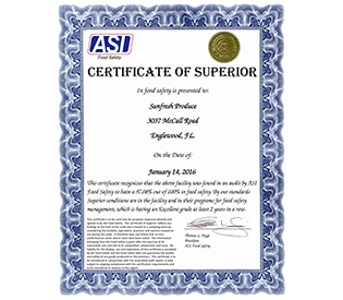 ASI Certificate of Excellence